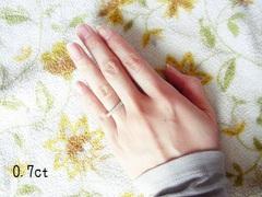 リング幅の細いダイヤモンド結婚指輪