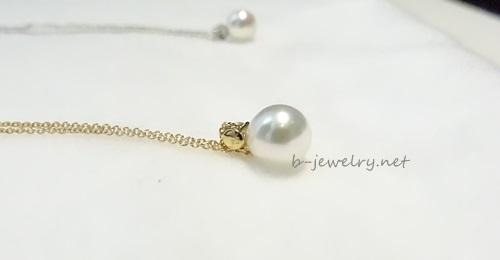 最高級品質のパールを使っているのに格安の一粒真珠ネックレス。