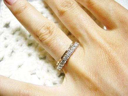 横から見たら意外と指輪の高さが違ったという話し。