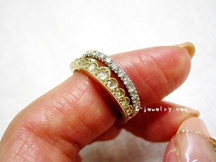 ローズカットのエタニティダイヤモンドリング