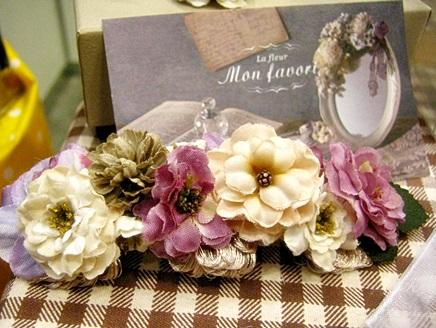 Mon favori、日比谷花壇の造花アクセサリープレゼントにぴったり