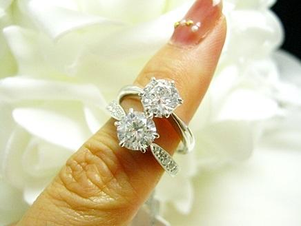 ダイヤモンドを大きく見せるリングデザイン
