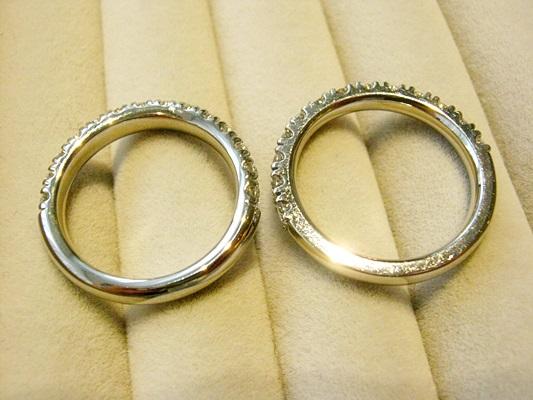 ダイヤモンドハーフエタニティマリッジリング比較