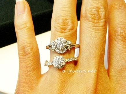 ごついデザインの婚約指輪かも?どう?