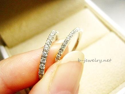 キラキラ輝くダイヤモンドリング。