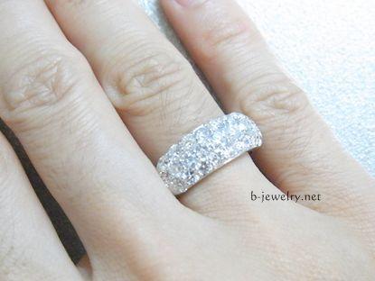 5万円わがまま福袋で注文したダイヤモンドパヴェリング、評判と口コミ評価