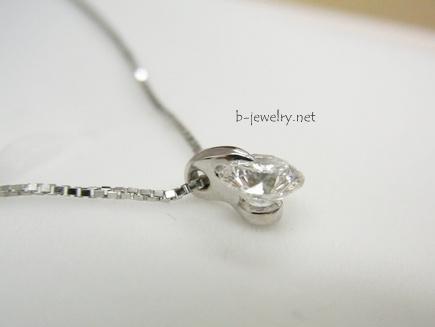 オーダーメイドのダイヤモンドネックレスに鑑定書付き