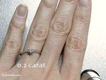 0.2カラット婚約指輪用ダイヤモンドリング