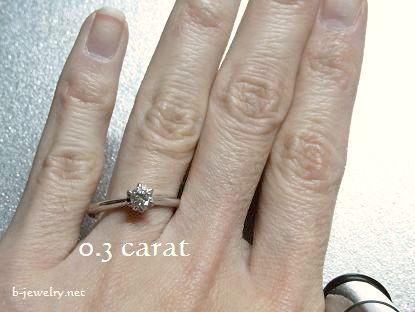ダイヤモンドの大きさ比較写真