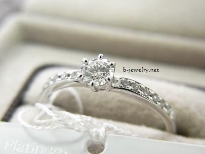 6本爪のエタニティデザインダイヤモンド婚約指輪(エンゲージリング)