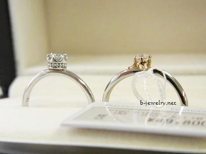 個性的なデザインのダイヤモンド婚約指輪デザインリング