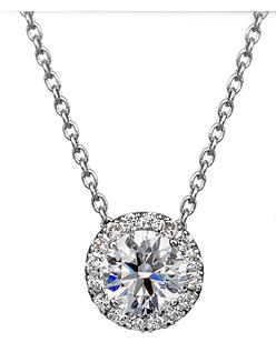 ヘイローデザインのハローダイヤモンドネックレスが