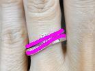 ソリティアタイプの婚約指輪とアントルティエの重ね付けライン