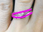 ソリティアタイプの婚約指輪とDiese(ディエーズ)マリッジリングの重ね付けライン図