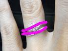 S字ウェーブライン結婚指輪とRivage(リヴァージュ)マリッジリングの重ね付けライン