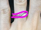 S字ウェーブライン結婚指輪とウェーブラインマリッジ(ロンド)の重ね付けライン