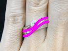 ウェーブライン婚約指輪とアントルティエの重ね付けライン