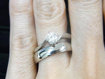 婚約指輪と結婚指輪の重ね付け(私の場合)