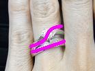 重ね付けの指輪ライン