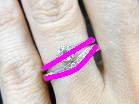 ソリティアタイプの婚約指輪とUnir(ユニール)の重ね付けライン