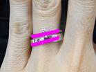 ソリティアタイプの婚約指輪とストレートラインの結婚指輪の重ね付けライン図