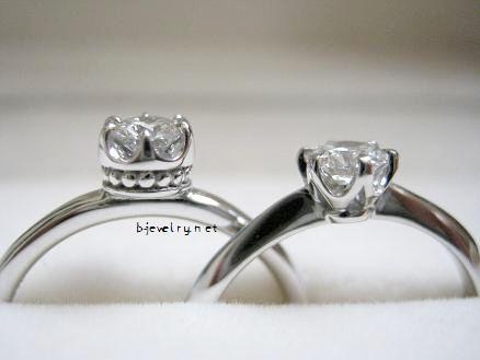 かわいいデザインのダイヤモンド婚約指輪