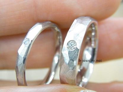 結婚指輪の表面加工
