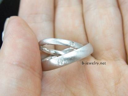 結婚指輪の表面仕上げ・つや消しイメージの加工の評判