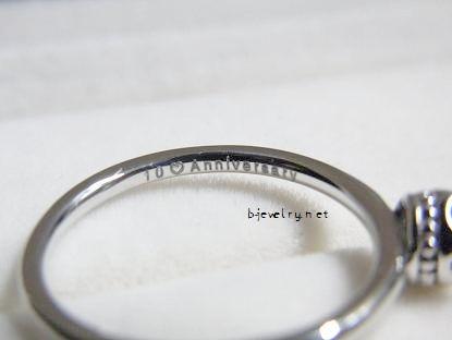 ダイヤモンドエンゲージリング内側の刻印口コミ