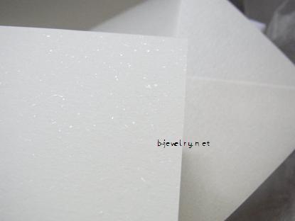 カデンシア+ブライダルのメッセージカードと封筒レビュー