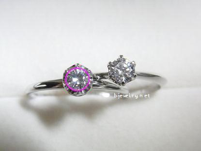 ダイヤモンドが大きく見えるダイヤモンド婚約指輪の選び方