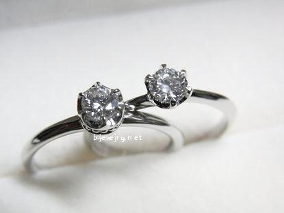 ダイヤモンドが大きく見えるリングデザインのダイヤモンド婚約指輪選び方